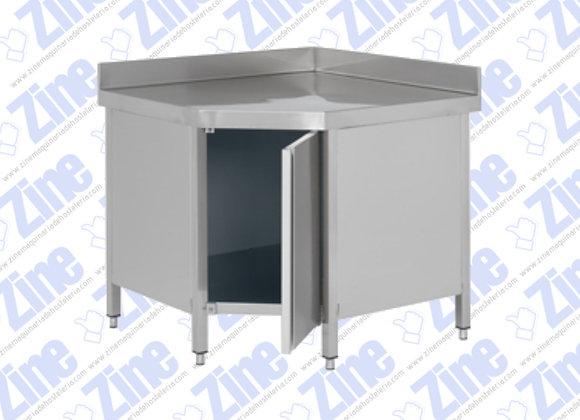 Mesas de ángulo con puerta medidas 600 x 600 x 850