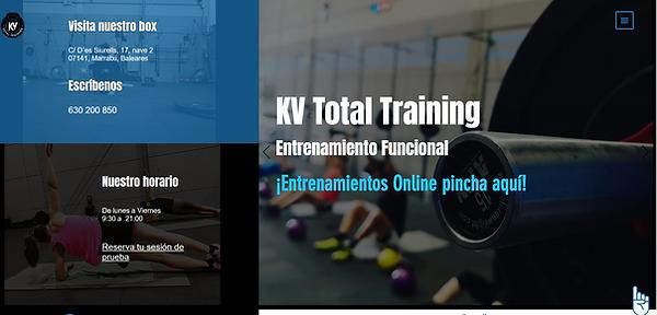Página web de KV Total Training