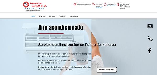 Diseño de página web Instaladora Cardell