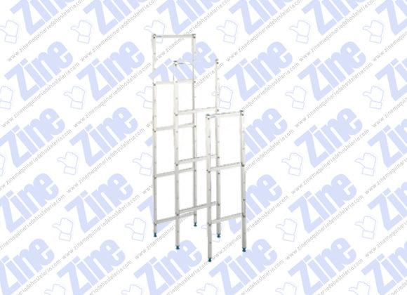 Soportes estanterías de aluminio y polietileno medidas 2000 x 500*