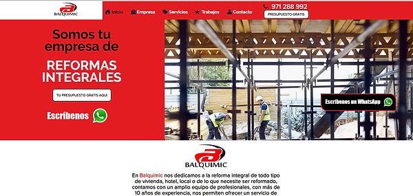 Diseño página web empresa de reformas ba