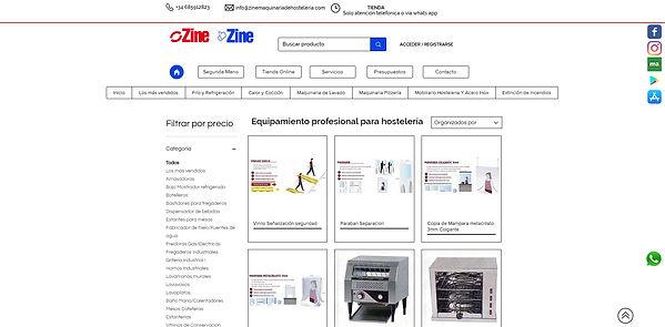Diseño Tienda online Empresa de Maquinar