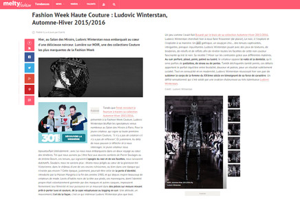 Maison Ludovic Winterstan Melty Fashion