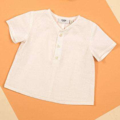 Blouse bébé Lin blanc 12 mois