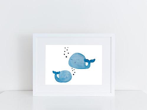 """Artprint """"Wale"""" nach Original Aquarell"""