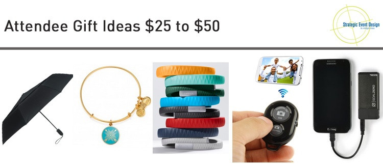 Attendee Gift Ideas Under $25 to $50