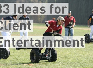 33 Original Ideas for Client Entertainment & Events
