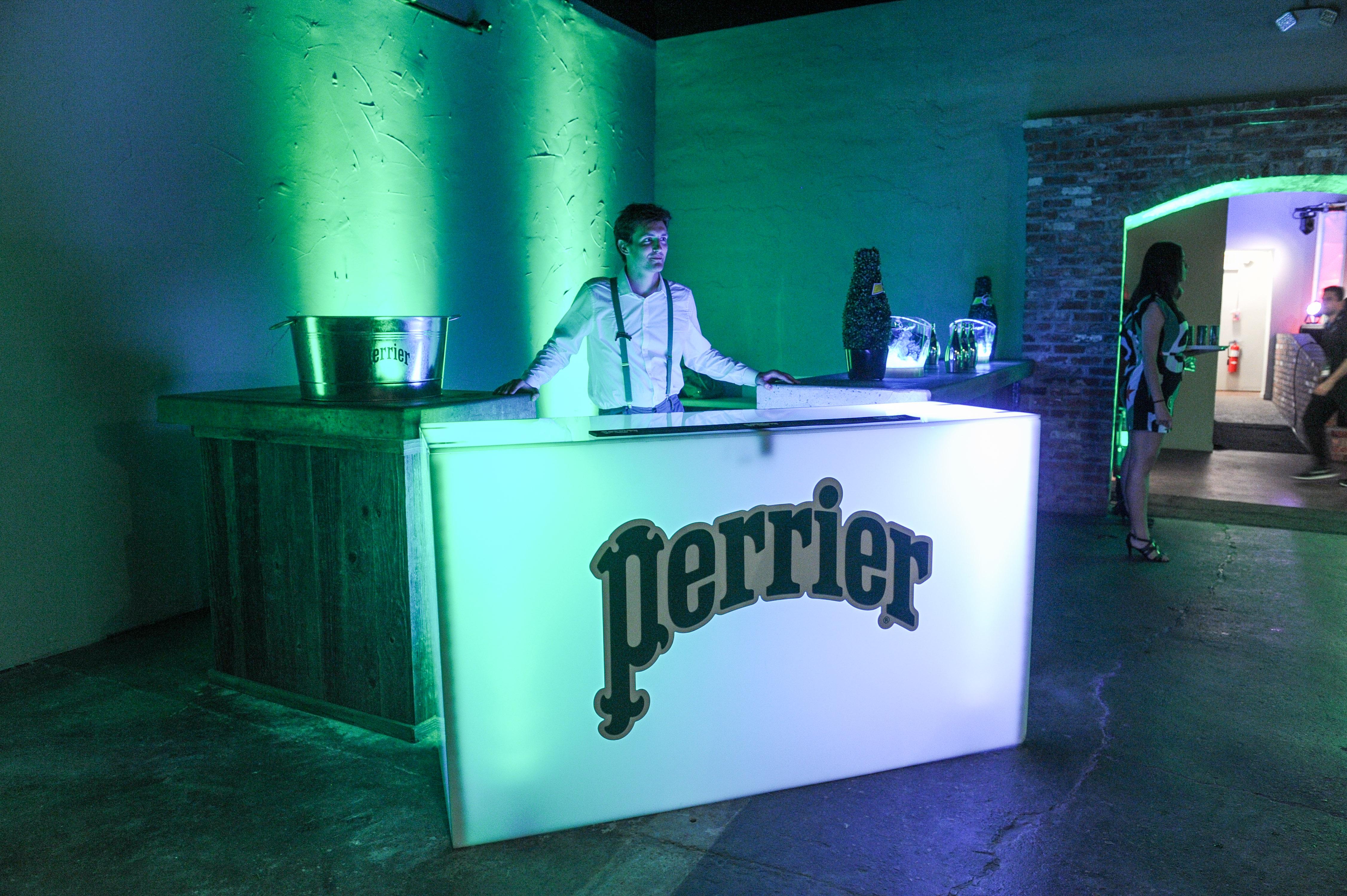 Perrier Sponsors Booths