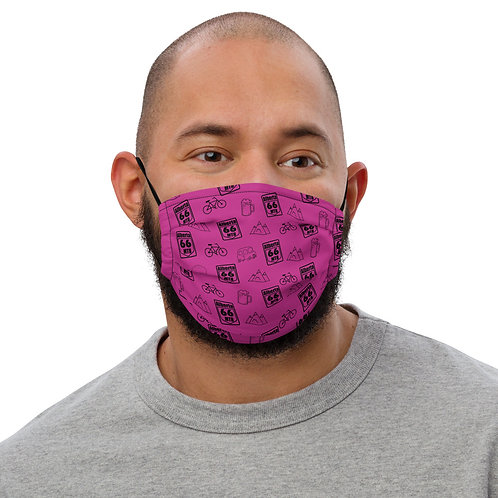 "Pink ""All The Things"" Premium face mask"