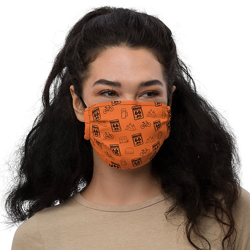 "Orange ""All The Things"" Premium face mask"