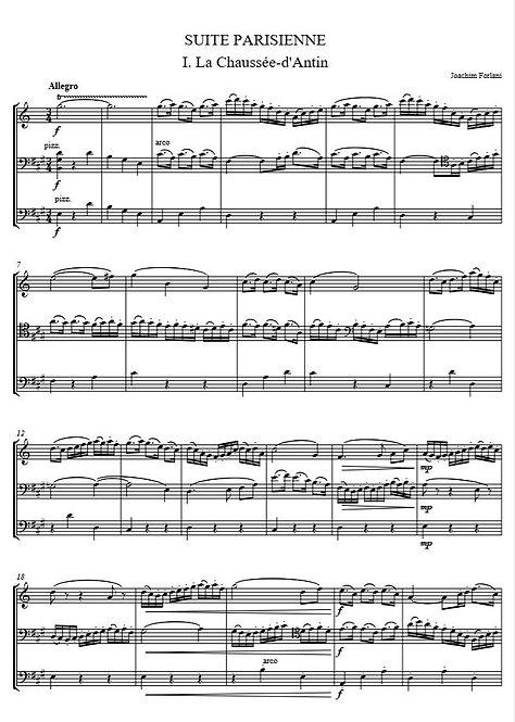 Forlani J. - Suite Parisienne pour clarinette, violoncelle et contrebasse
