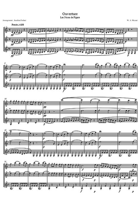 Mozart W.A. - Ouverture (Le Nozze di Figaro)