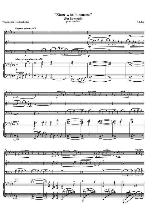 Lehár F. - Einer wird kommen, instrumental (Der Zarewitsch)_VlClVlcPno