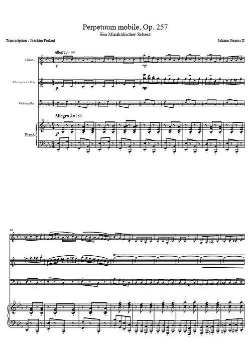 Strauss II J. - Perpetuum Mobile Op. 257_VlClVlcPno
