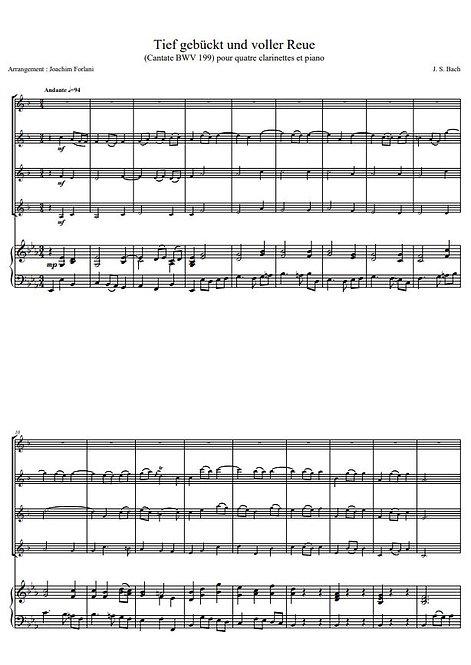 Bach J.-S. - Tief Gebückt und voller Reue (BWV 199)_4ClPno