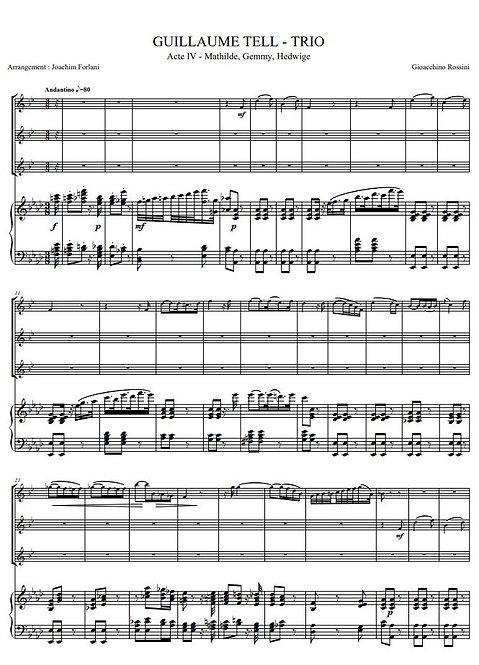 Rossini G. - Trio (Guillaume Tell, Acte IV)_3ClPno