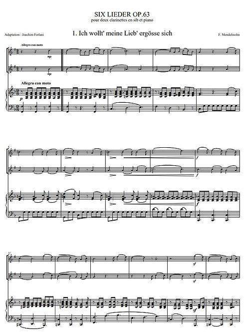 Mendelssohn F. - Six Duos op.63_2ClPno