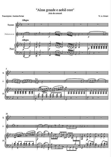 Mozart W.A. - Alma grande e nobil core KV 578, Aria de concert_SClPno