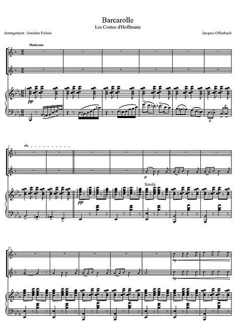Offenbach J. - Barcarolle des Contes d'Hoffmann_2ClPno