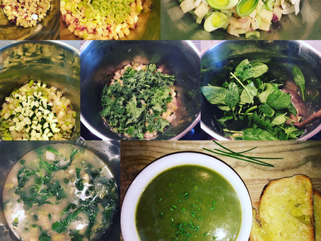 10 a day?! How do I manage?! I've got you covered with this 'souper' Green Goddess soup