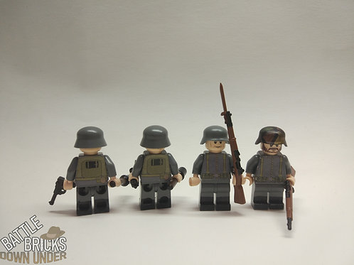 LEGO WW1 German soldier torso - stickers