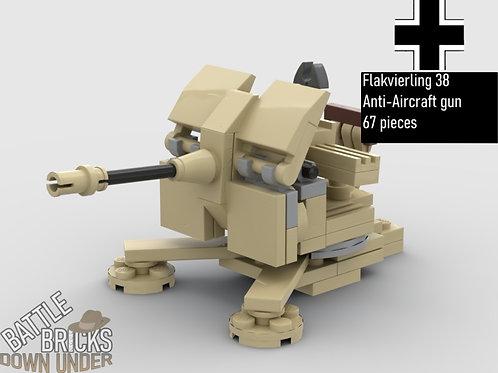 LEGO German Flak 38 Anti-aircraft Gun Instructions