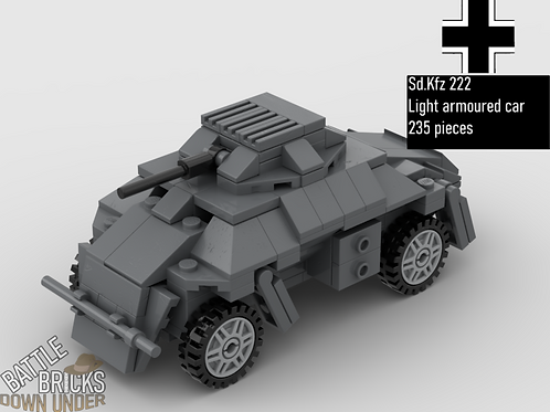 LEGO Sd.Kfz 222 Light Armoured Car Instructions
