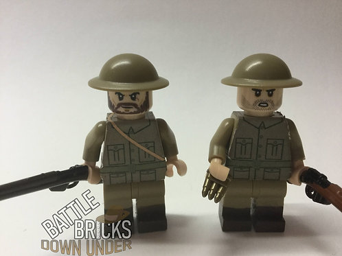 LEGO WW1 ANZAC infantry stickers
