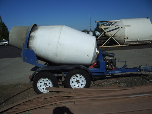 Cart Away Used Site Mixing Trailers