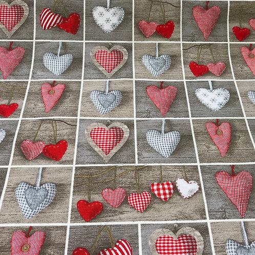 Hearts on Grey
