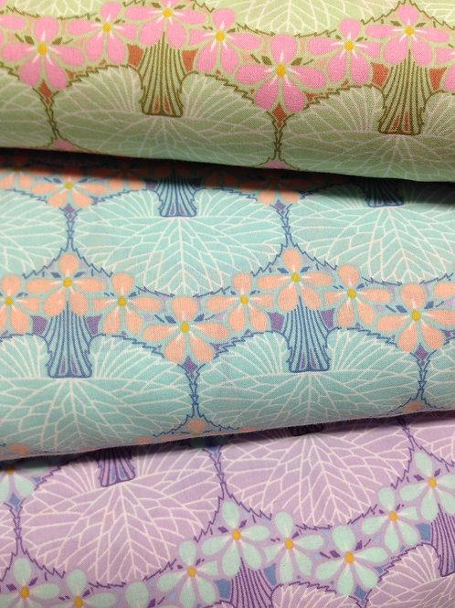 Lily pad Print cotton Lawn