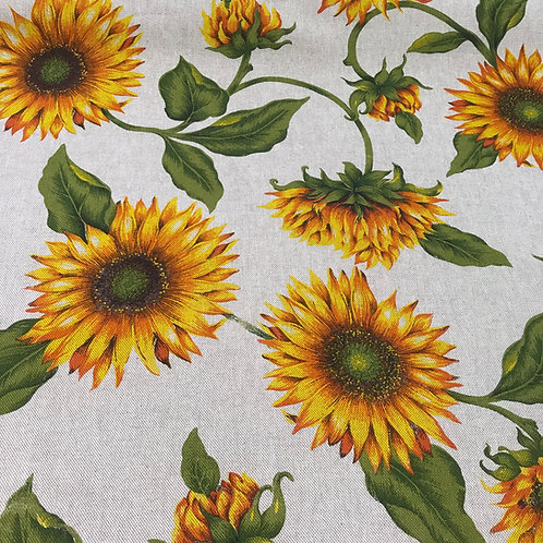 Sunflower on Beige