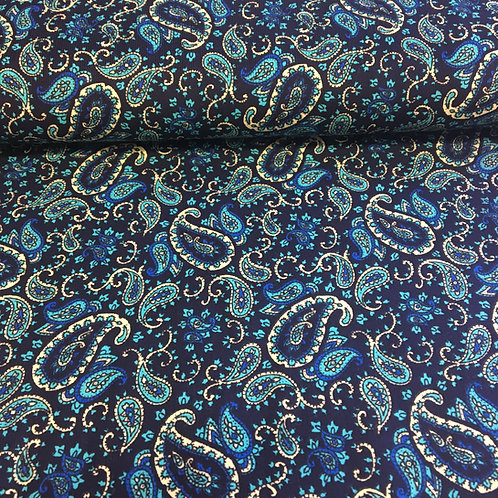 Paisley on Navy