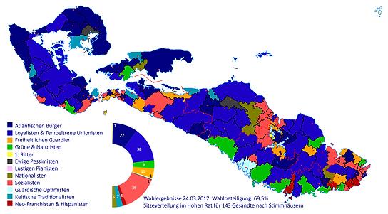 Karte Vanguardien Wahlergebnisse 2017