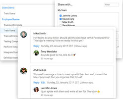 Chat Aufgabenliste App Team-Kalender in IT Projekt WMS TMS in Lager und Tranport