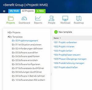 Projektvorlagen für Ihr Projekt WMS Warehouse Management oder TMS Transport Management Software