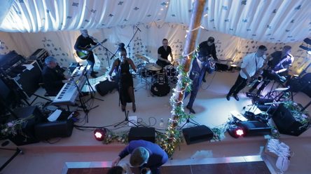 Sound System Lights & Stage Monitors for Band  - Wedding