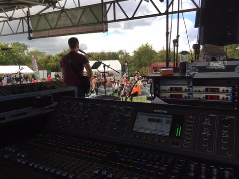 Music Stage - 10k Sound System & lighting  - Kop Hill 2017 Car event