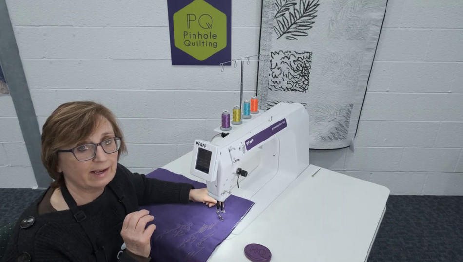 Stitching on the Pfaff Powerquilter 16.0