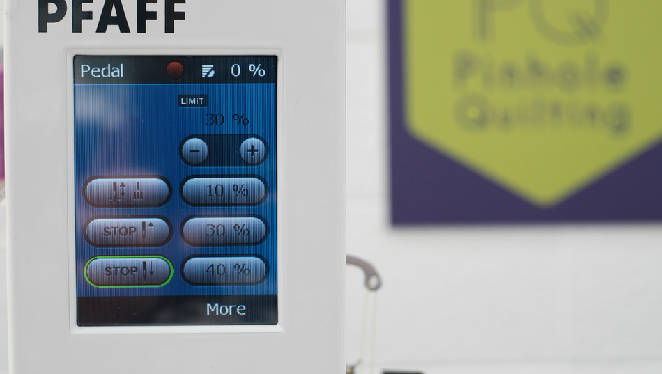 Screen on Pfaff Powerquilter 16