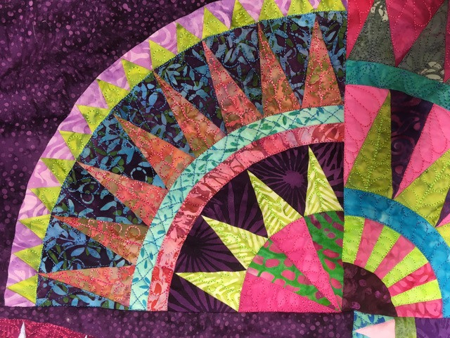 Chrysler Revisited - Best Use of Colour at 2019 World Quilt Show