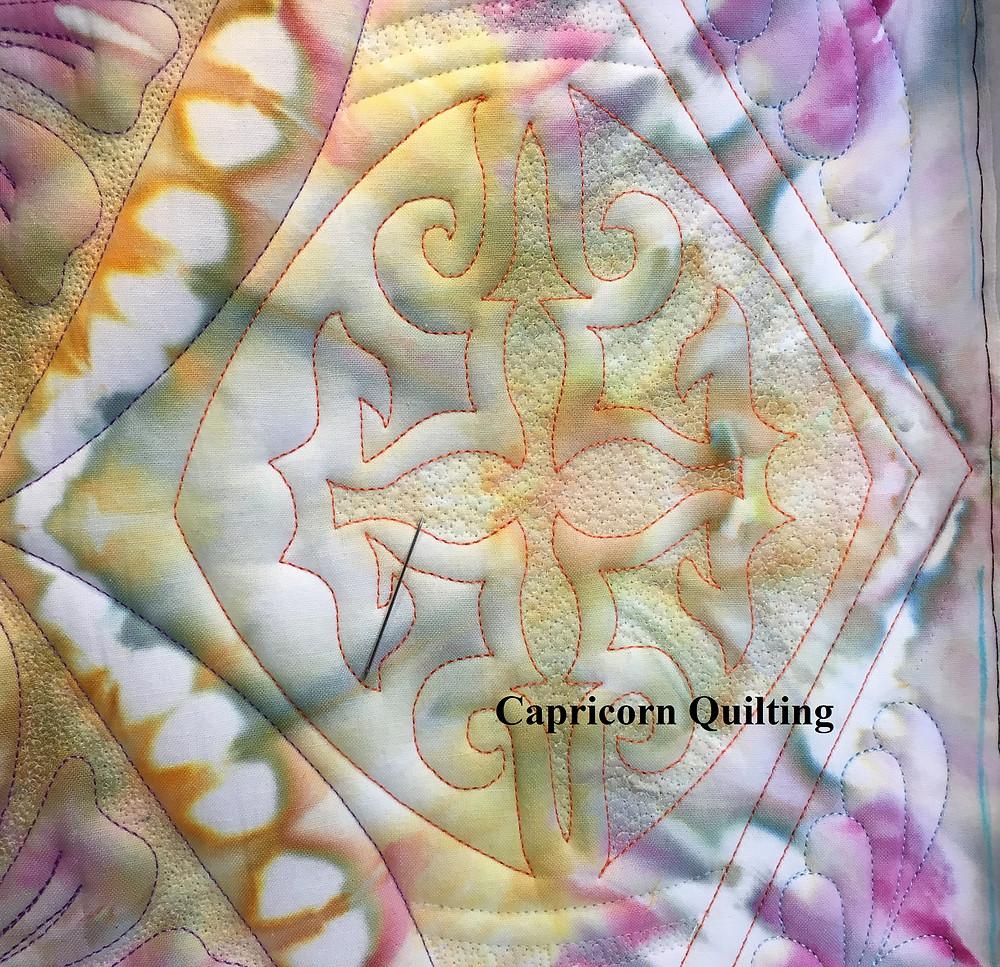 Micro quilting on the Handi QuilterHQ18 Avante