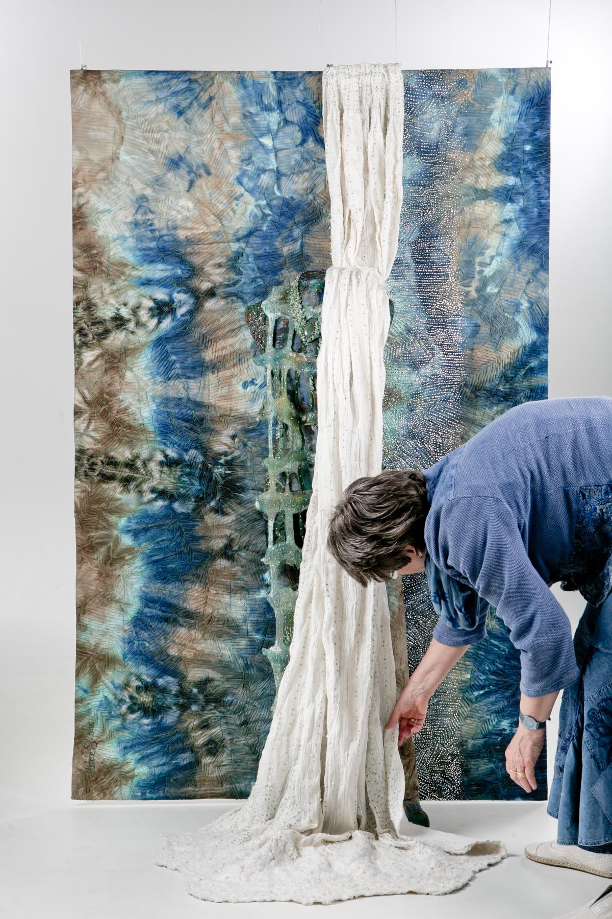 Hilde van Schaardenburg.Waterfall & Hilde