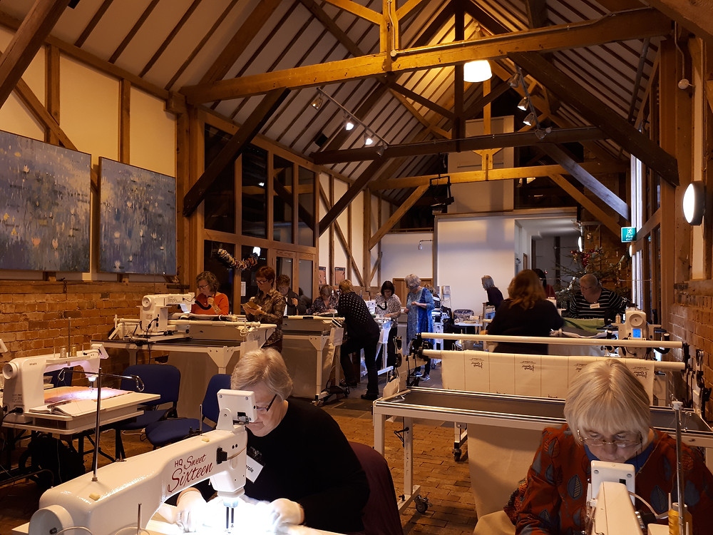 The Large Barn full of Handi Quilters!