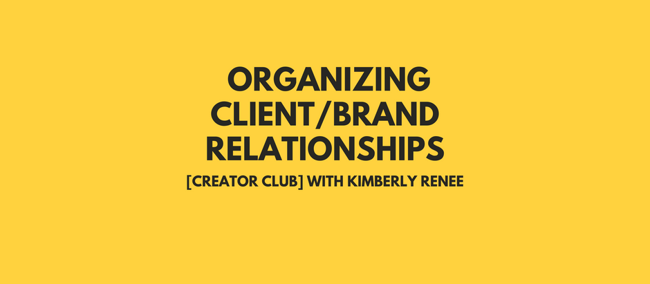 Steal My Tool: Organizing $$$ Client/Brand Relationships