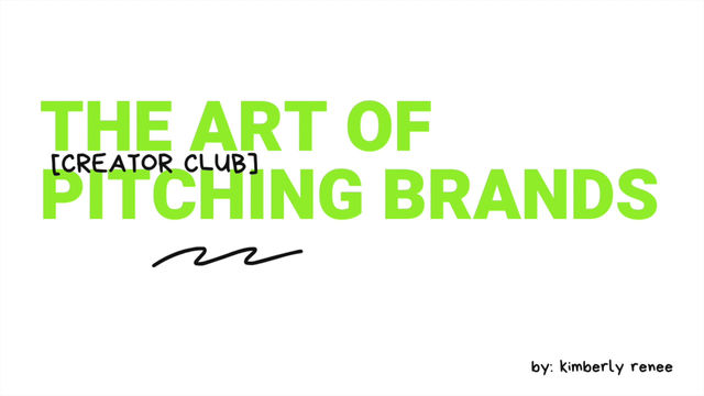 [Creator Club] Live: The Art of Pitching: Part 1
