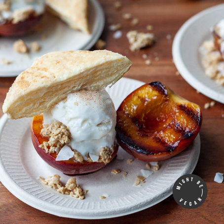 Deconstructed Grilled Peach Cobbler