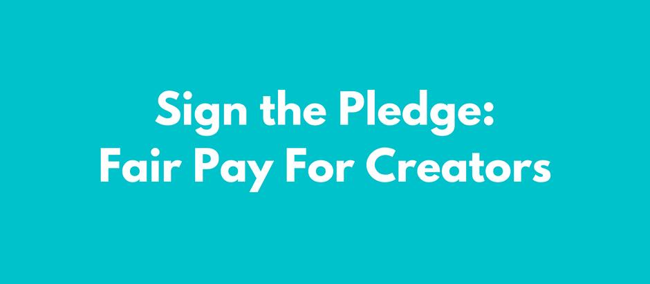 Fair Pay for Creators Pledge