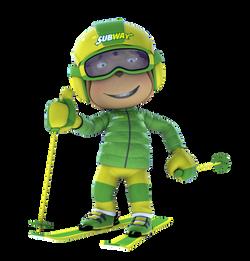 Subway Monkey Ski