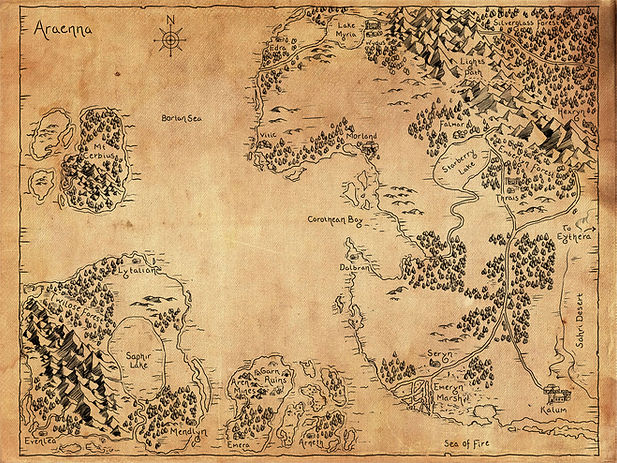 Map of Araenna ©Tyffany Hackett